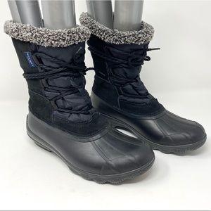 SPERRY Syren Strait Boots, Fur Duck Boot, Size 7
